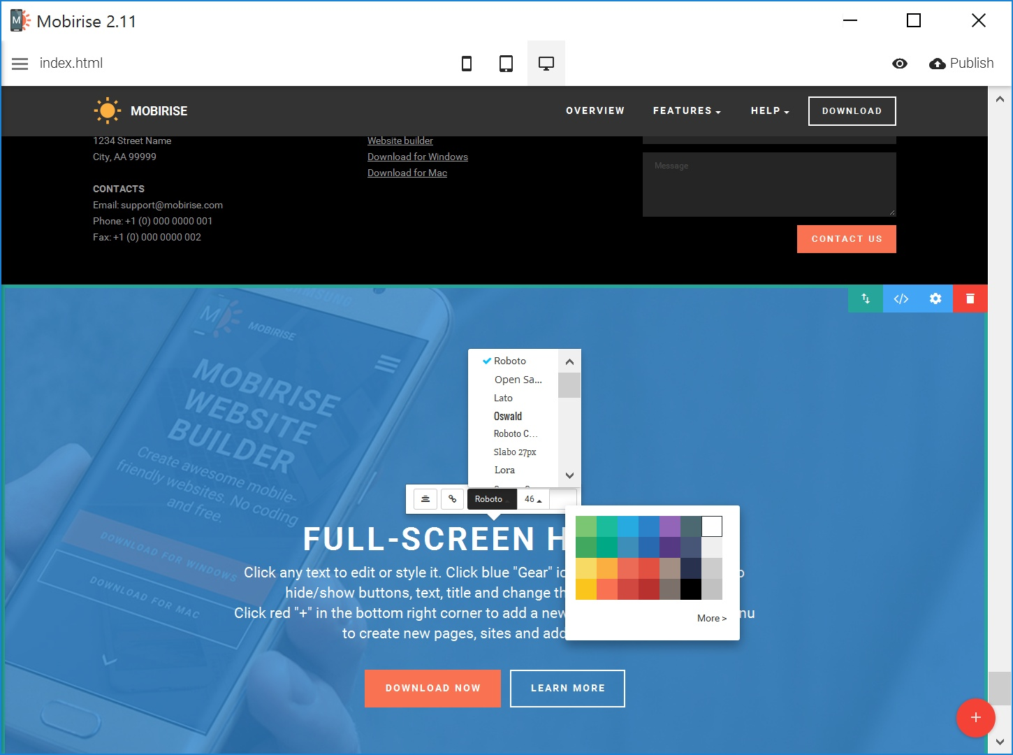 Free and Simple Website Creator Software