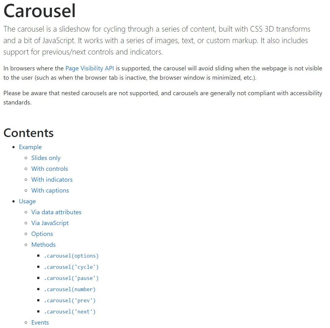 Bootstrap carousel  formal  documents