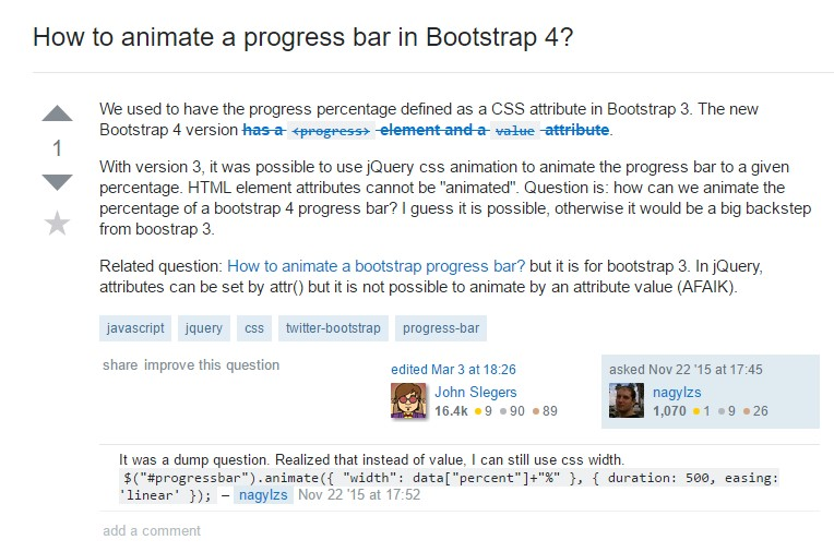 How to animate a progress bar in Bootstrap 4?