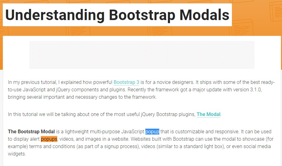 One more  handy  content  relating to Bootstrap Modal Popup