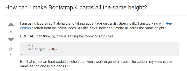 Insights on  exactly how can we  create Bootstrap 4 cards just the same  height?