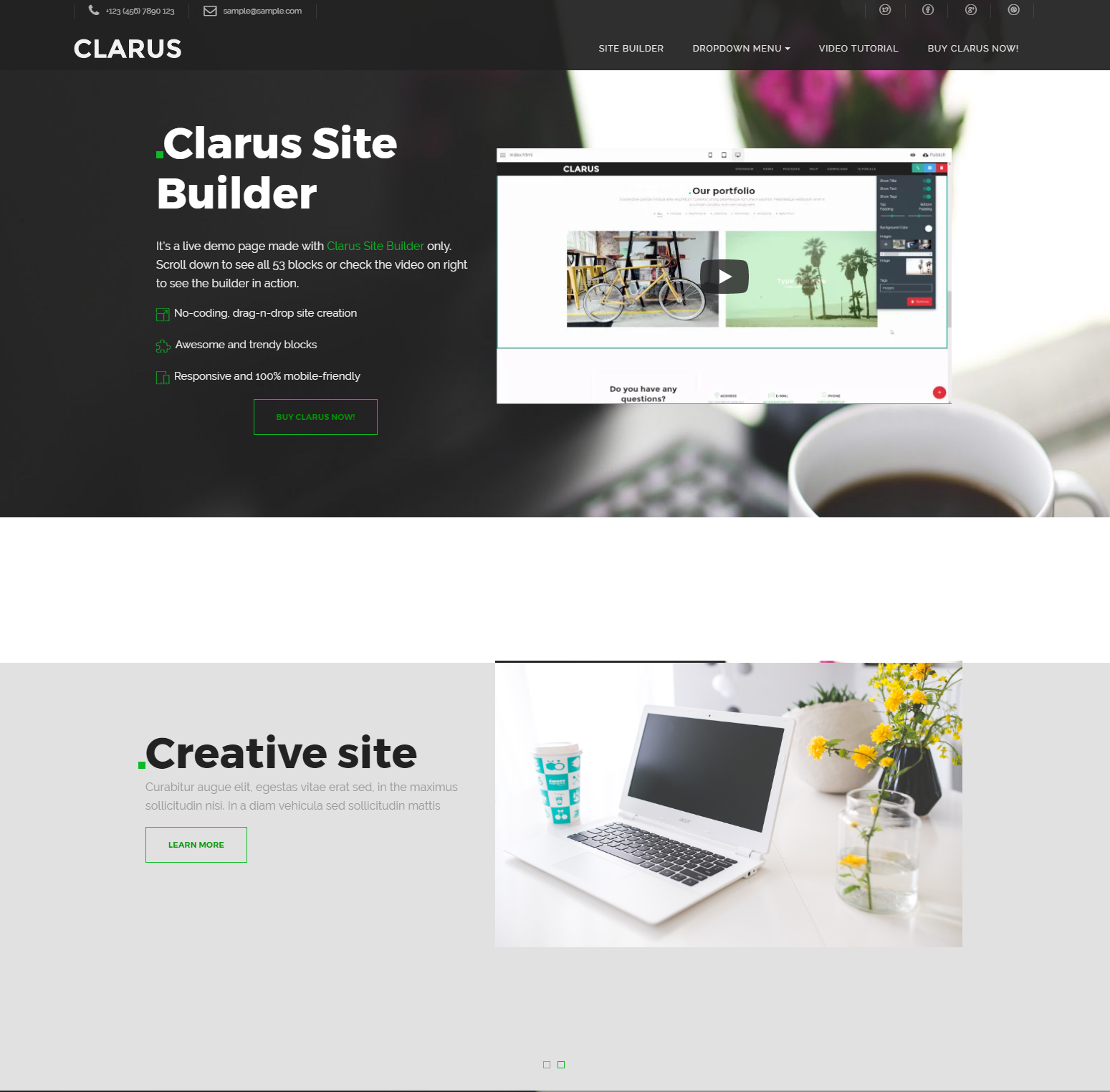 Responsive Bootstrap Clarus Themes