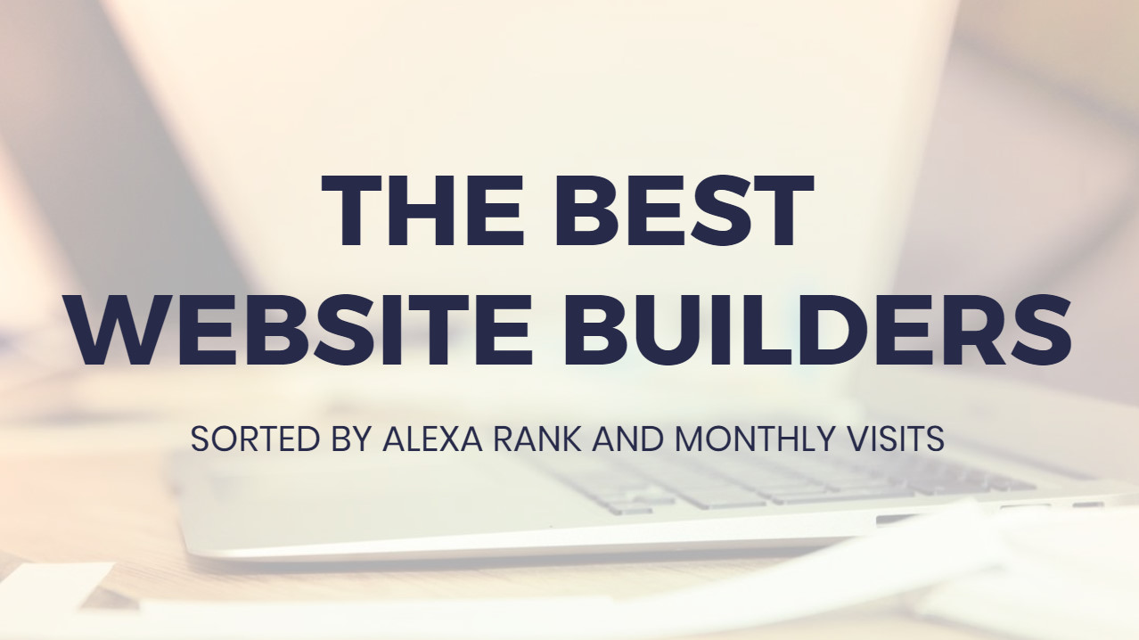 Most suitable Website Builders