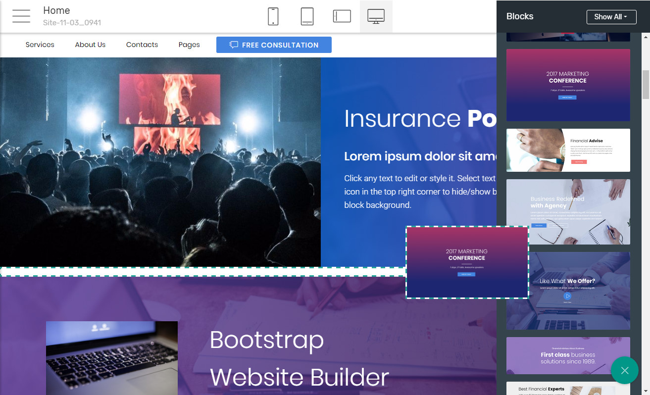 Bootstrap Landing page Software